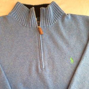 Men's Ralph Lauren Polo 3/4 inch zip down Sweater